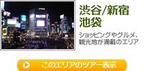 渋谷/新宿/池袋 ショッピングやグルメ、観光地が満載のエリア(びゅう)
